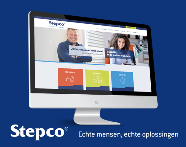 Stepco | Merkpositionering, huisstijl en website